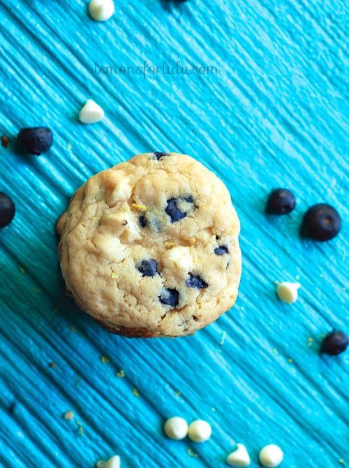 Lemon Blueberry Cheesecake Cookies www.lemonsforlulu.com