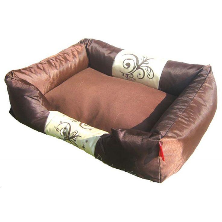 Dog's Life Waterproof Modern Swirl Bed Brown