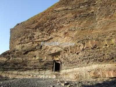 Photo of Close Up of Mining Tunnel in Rocks - Grebe's Nest, Bell Island, Newfoundland
