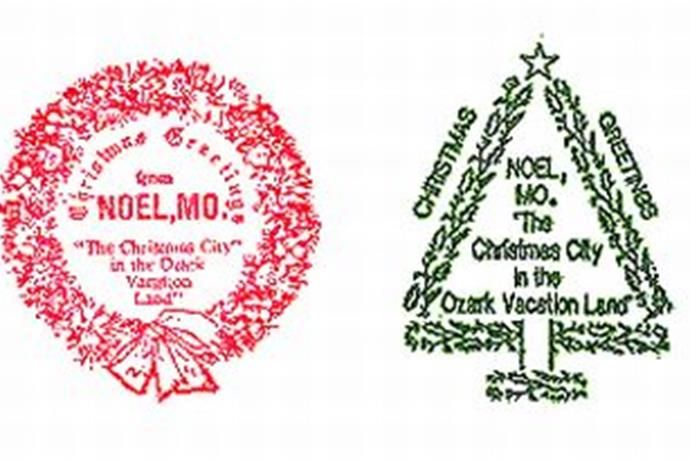 Since the 1930s, the town of Noel in McDonald County has stamped cards and letters with the city's postmark.  Volunteers even work through the holidays to add a special stamp to the envelopes.  So if you want your Christmas cards to arrive with an added holiday touch this year, here's what you do.  Just package and address them to: Postmaster, Noel, Missouri, 64854. The service is free.  Learn more at http://www.4noel.com/postmark.html