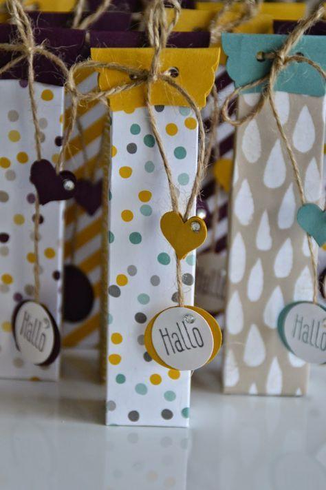 Kreativ mit Liebe!: Anleitung zur Verpackung für kleine Schoki-Riegel