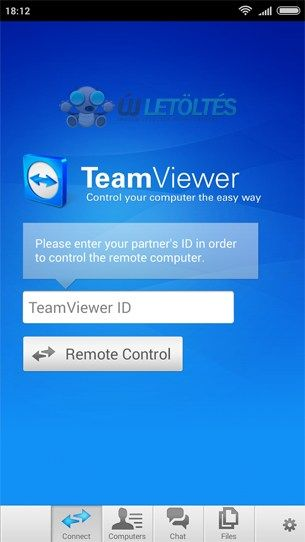 TeamViewer for Remote Control 11.0 Android alkalmazás letöltés ÚJ! A TeamViewer egy olyan könnyen kezelhető Android alkalmazás, amely gyors és biztonságos távoli hozzáférést biztosít a Windows, Mac és Linux operációs rendszerű számítógépekkel.
