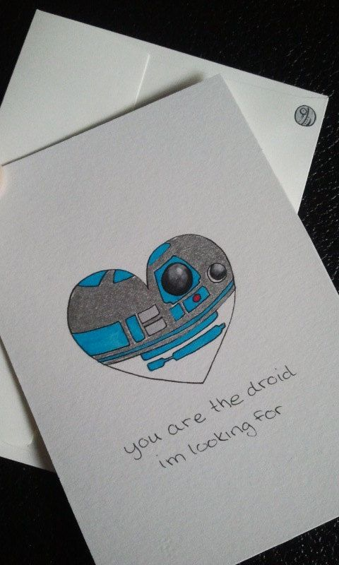 Star Wars Love Card by ShelbyGoelz | R2-D2 Droids you're looking for Valentine's