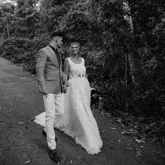 CHOSEN BRIDE | The gorgeous @jimmyandflo tied the knot wearing our Calli Skirt and Top | Purchased from @lovemariebridalboutique in Sydney | You can also purchase this set via our website | Photography @natsalloum_photography | #chosenbyoneday #chosenbride #bride #wedding #weddingdress #australiandesigner #designer #fashion  #Regram via @chosenbyoneday
