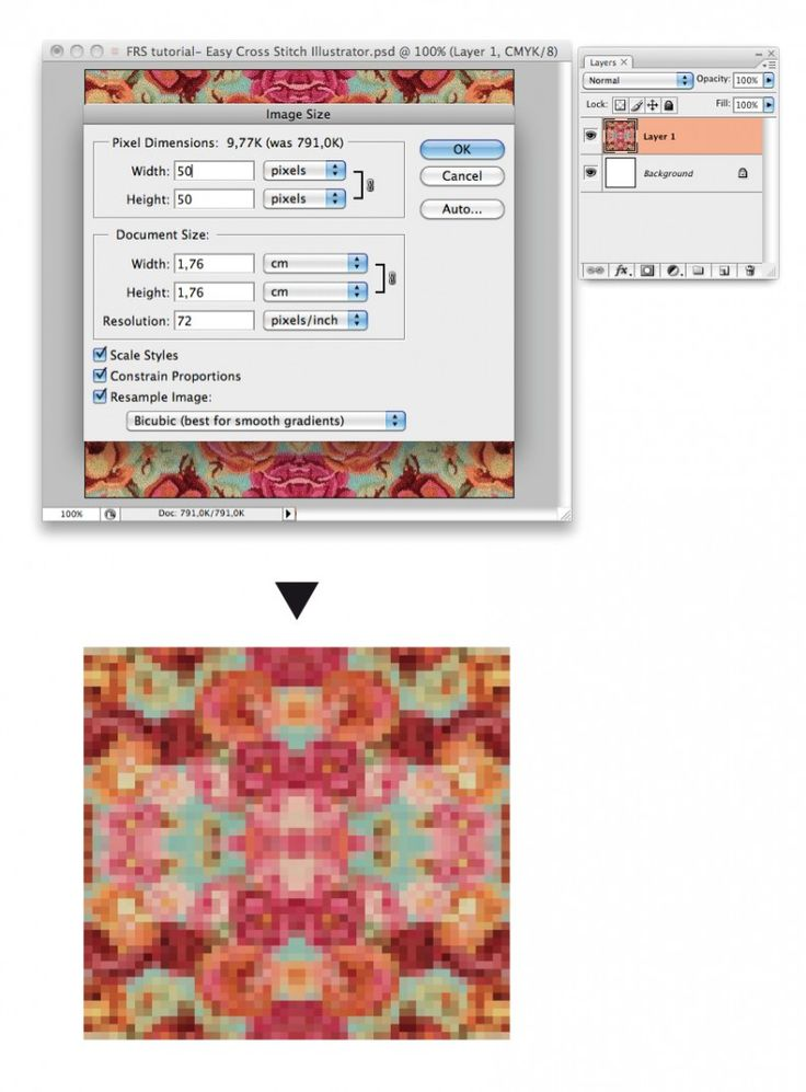 How to make your own cross stitch pattern out of any picture!! :D