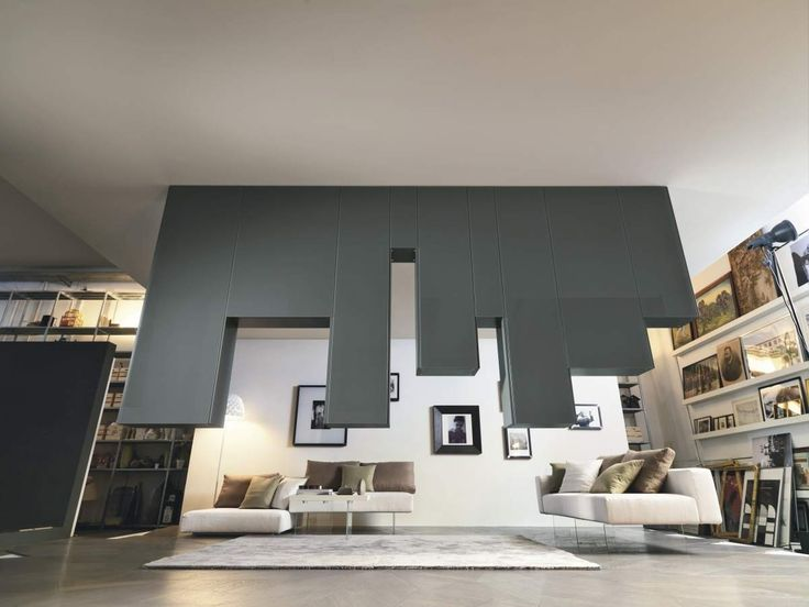 Zwevende wandcombinatie, ideaal om een ruimte op te delen.