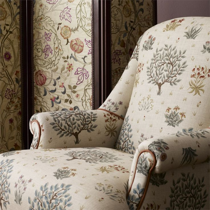 Morris & Co's Archive Prints Collection - Orchard Fabric, now available at British Wallpapers