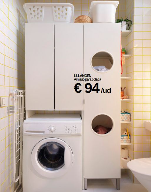 Muebla lavadero ikea lavadero pinterest laundry - Cestos para kallax ...
