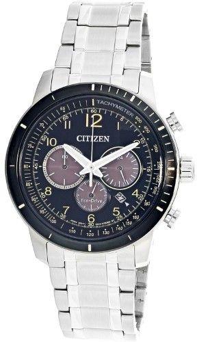 Citizen Men's Eco-Drive CA4358-58E Silver Stainless-Steel Japanese Quartz Diving Watch