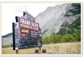 Franks Slide Alberta. Such a tragety