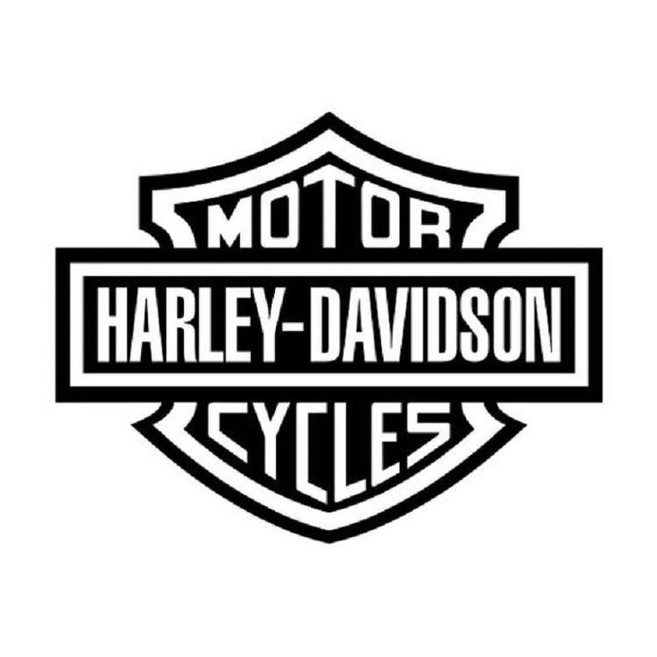 Harley Davidson Bar and Shield Vinyl Decal by Rebelroadauthentic on Etsy