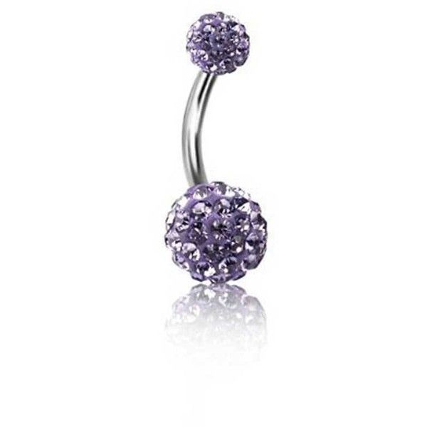 Bling Jewelry Purple Ball Charmer Body Jewelry ($13) ❤ liked on Polyvore featuring jewelry, rings, body jewelry, body-piercing-rings, purple, imitation jewellery, purple jewellery, artificial jewellery and steel body jewelry