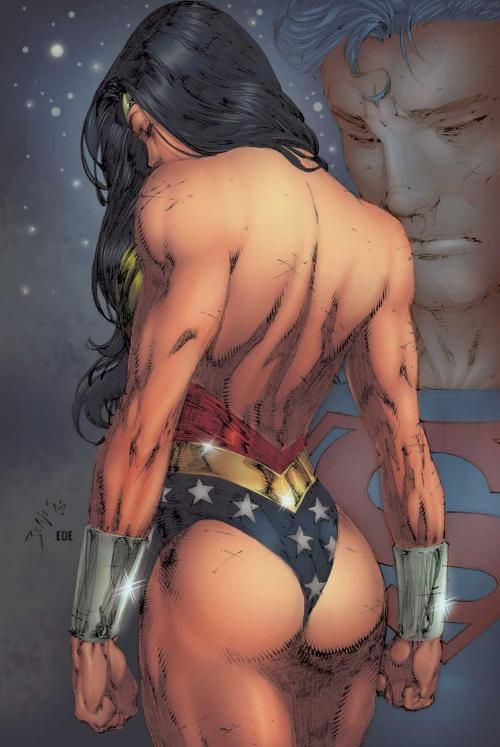 wonder woman in a thong naked