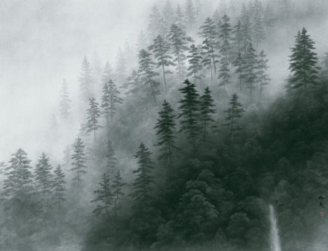 東山 魁夷 Kaji Higashiyama『山霧幽玄』 京セラ美術館蔵