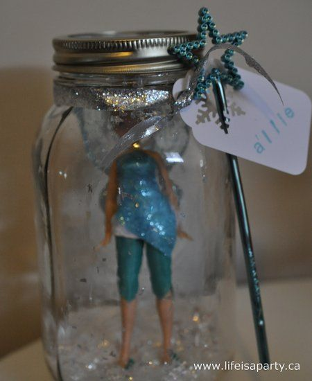 When they first arrived they were each given a different fairy doll. They looked so cute in mason jars with faux snow in the bottom, each one labelled with their name and a little fairy wand tucked in.