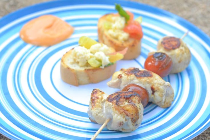 Chicken mozzarella on the barbecue