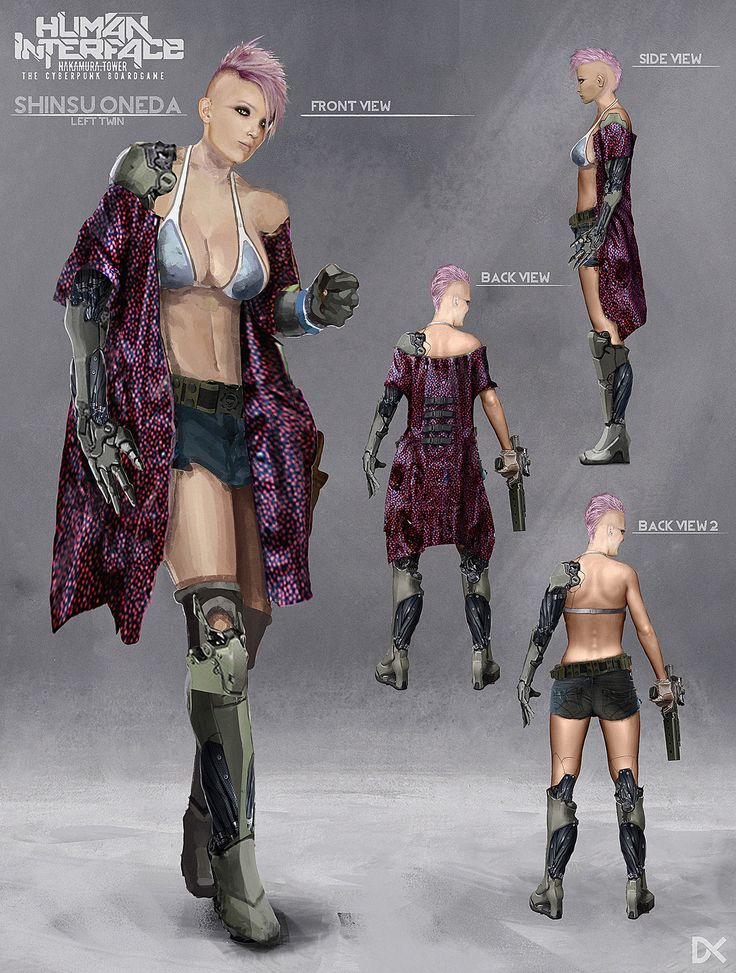 ArtStation - Human Interface - Character concept art ( Oneda Twins ), Darius Kalinauskas