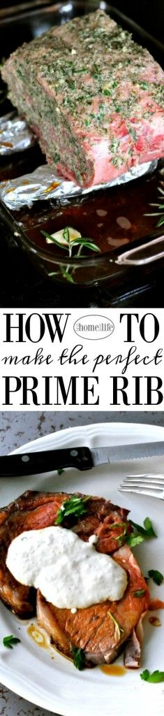 HOW TO MAKE THE PERFECT PRIME RIB ROAST FOR THE HOLIDAYS- GREAT RECIPE FOR HOSTING CHRISTMAS DINNER- EASY STEP BY STEP INSTRUCTIONS FOR RIB ROAST VIA FIRSTHOMELOVELIFE.COM