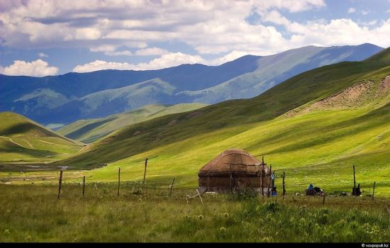 The steppes of Kazakhstan