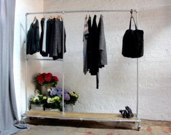 Pia Galvanised Steel Pipe Clothes Rail with by UrbanGrainInteriors