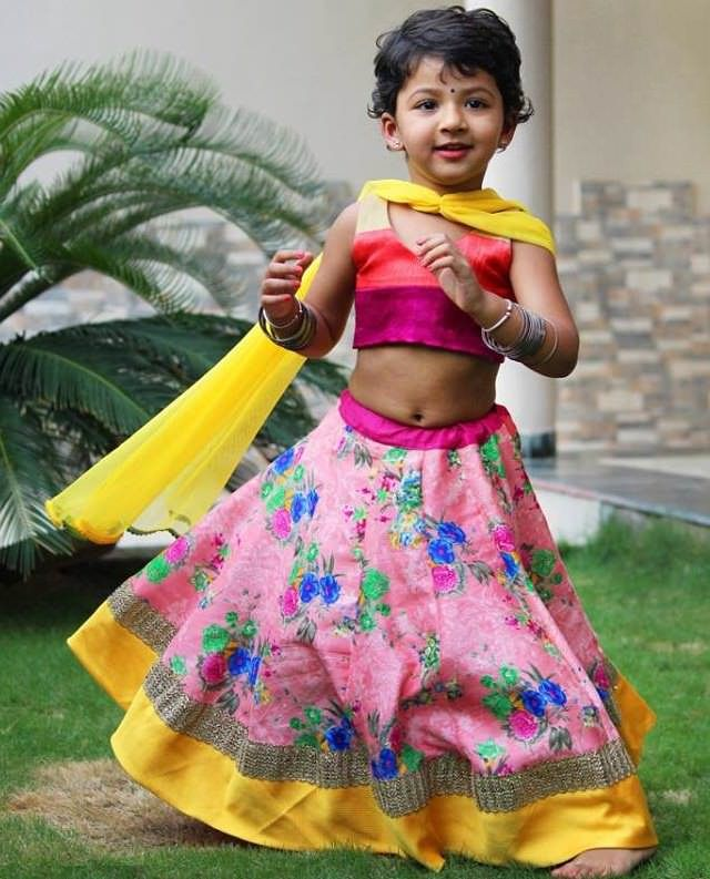 Ghagra Choli For Kids And Floral Prints On Pinterest