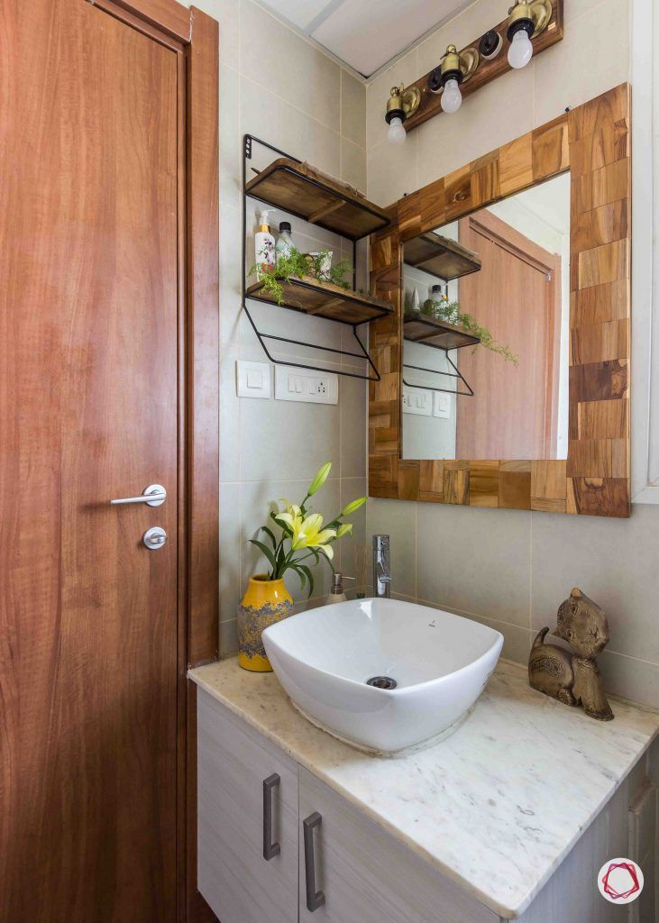 This 3bhk Is Earthy With Industrial Elements Bathroom Design
