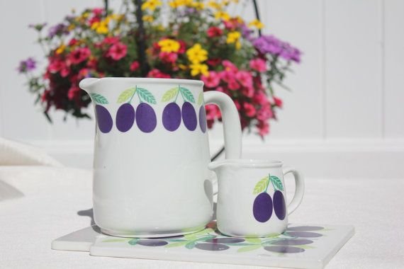 Pomona Luumu trio by Arabia Finland by FinnishTreasures on Etsy