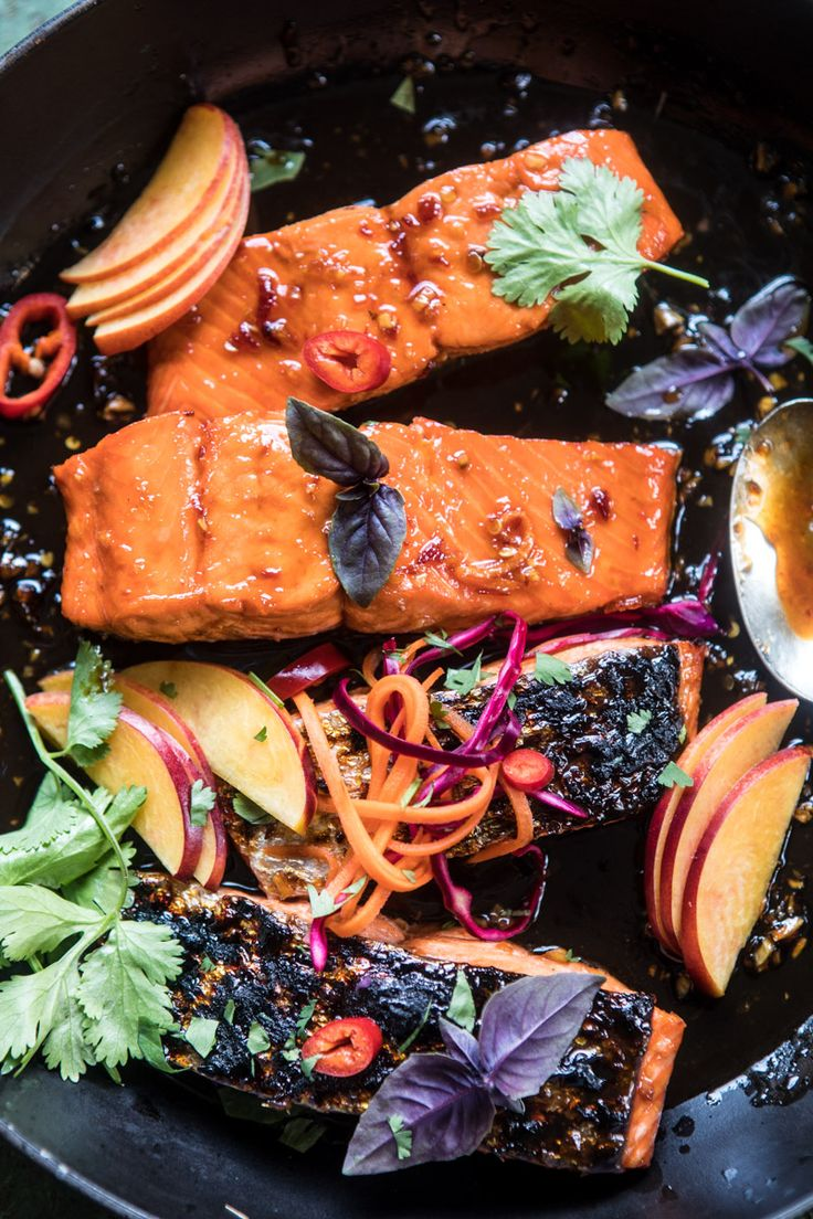20 Minute Crispy Honey Ginger Salmon: ready to eat in about 20 minutes and involves only pantry staples and fresh summer produce, yes! @halfbakedharvest.com