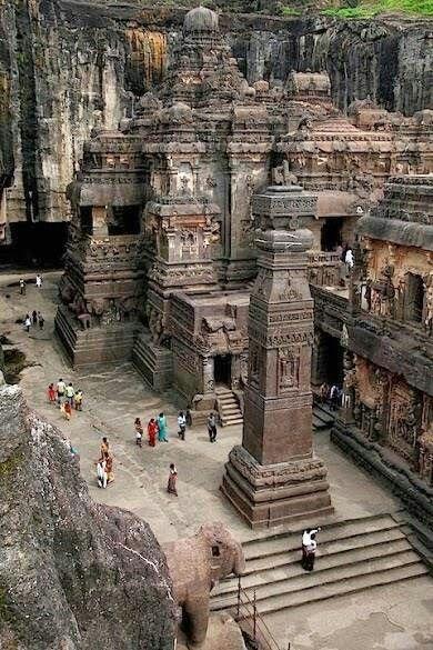 The Rock Hewn Temple, Mt Kailasa, Tibet~Semra, Traveller