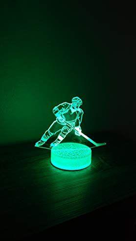 Hockey Player 3D Night Light 7 Color LED Review  5796f91b33b7