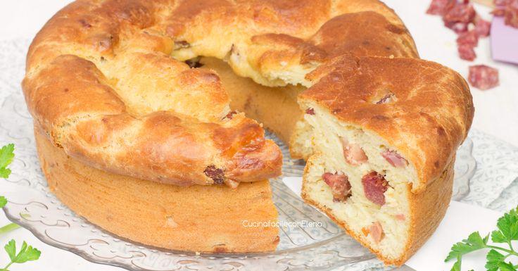 Il ciambellone di patate rustico è una deliziosa ciambella salata con patate nell'impasto ricco di salumi e formaggi, è favoloso!
