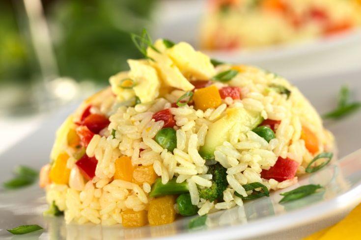 Rizoto z miešanej zeleniny
