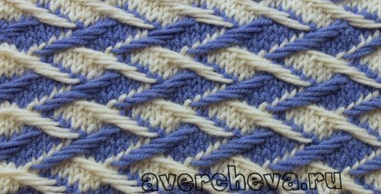 "Knitting pattern: ""weaving color pattern"" (Patterns 487) - maomao - I heart action"