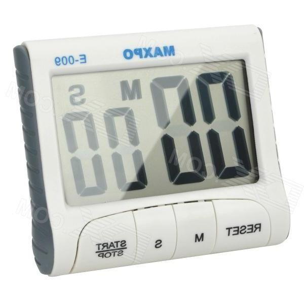 E-009 Kitchen Hanging / Desktop 2.9 Lcd Digital Countdown Timer - White + Grey (1 x AAA)