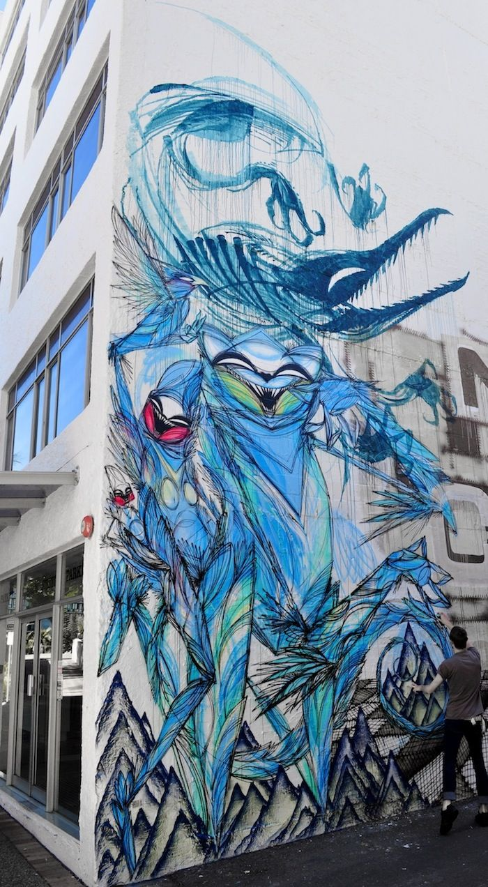 Graffiti art for sale australia - While Most Graffiti Work Displays Bold And Definite Contours Street Artist Shida Employs A More Sketch Like Technique The Australia Based Artist Produces