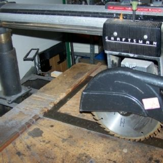 Checking a Radial Arm Saw for Squareness