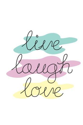 Vivir, reír, amar. Lámina. Cuadro. Tipografía.