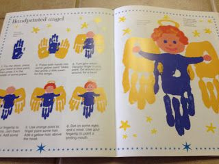 children's hand print angel art