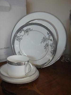Vera Wang Vera Lace Imperial Platinum 50 PC Bone China Dinnerware Set for 8 New | eBay