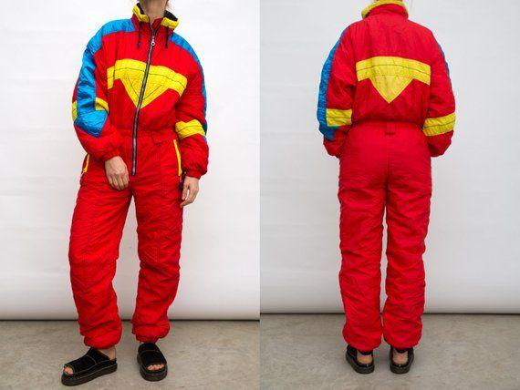 Vintage one piece ski suit 90ssnowboard overallssmall size