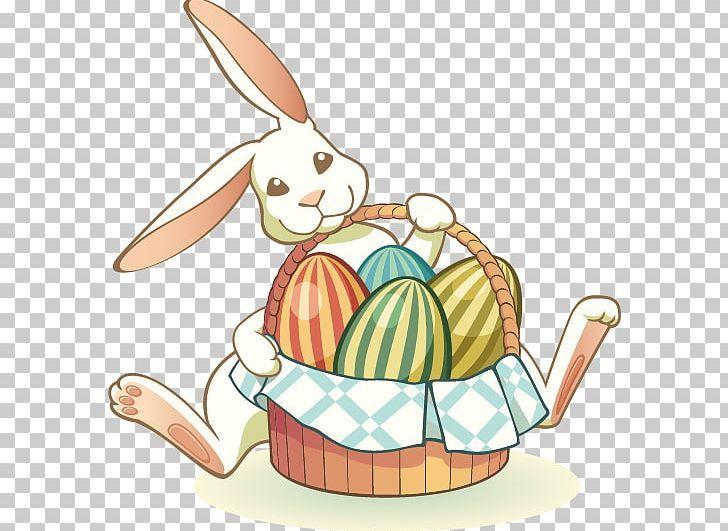 Easter Bunny Easter Egg Png Artwork Basket Basket Vector Cartoon Easter Bunny Easter Eggs Bunny