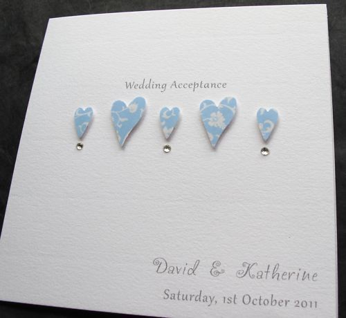Handmade Wedding Acceptance Regret Decline Party Card Miss Maggie Cards Pinterest And