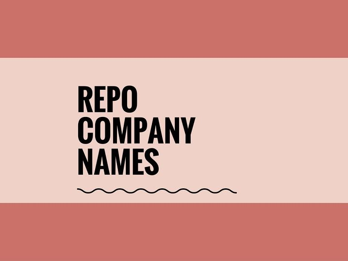 A Creative name is the most important function of Every Company. Check Creative Repo Company names ideas for your Inspiration.