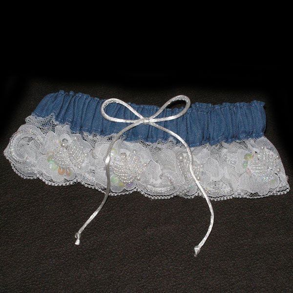 Denim and Lace Garter