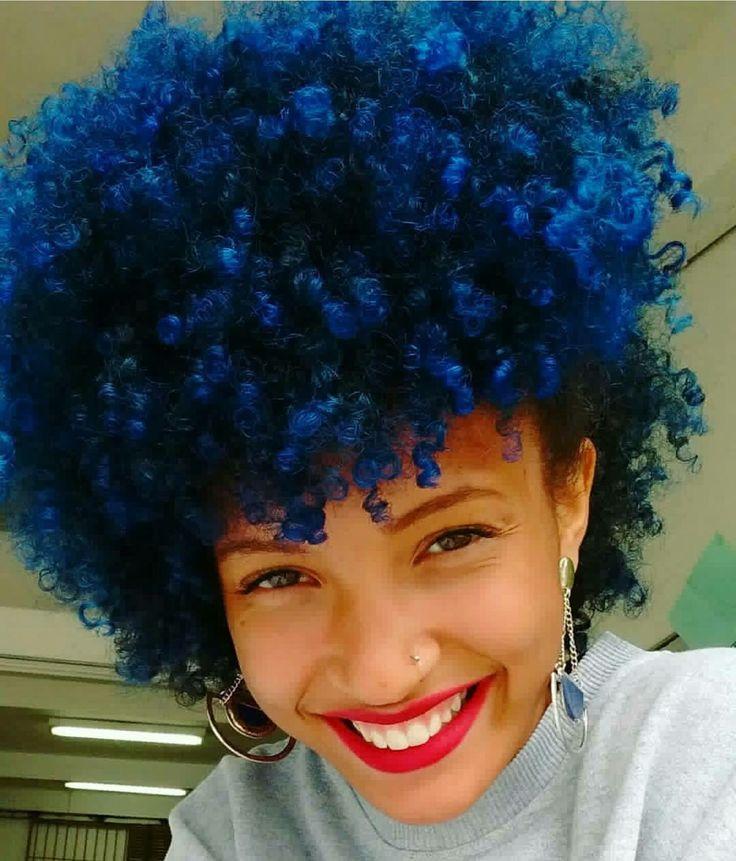 blue natural hair ideas