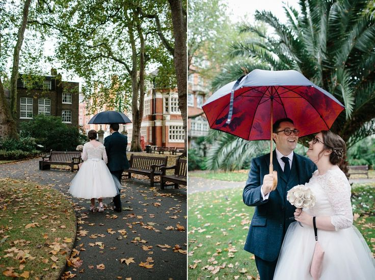 A Rainy Day Literary Inspired London Wedding. Photography by Caro Weiss