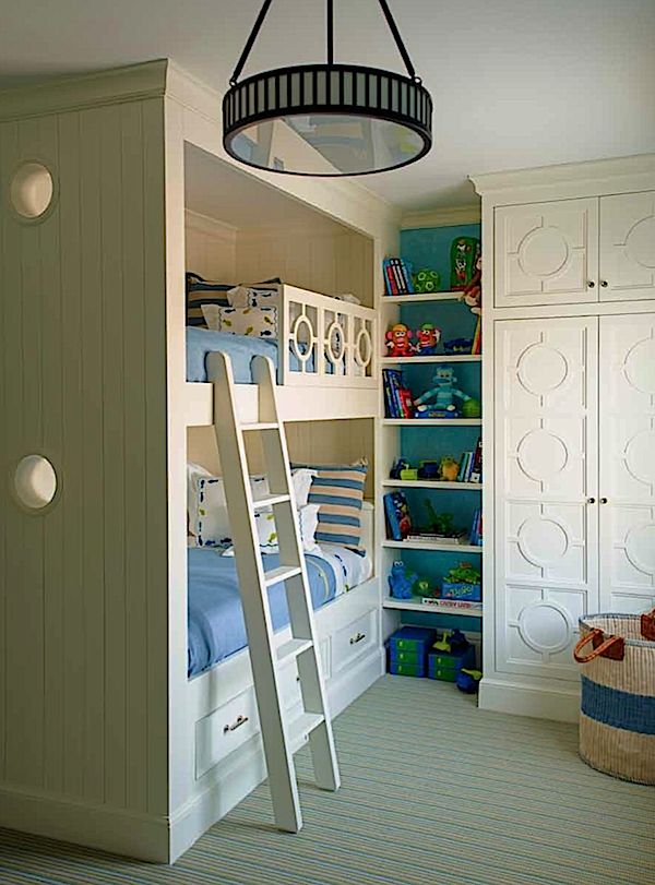 Built Ins In Charming Childrenu0027s Room