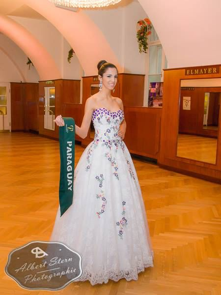Miss Paraguay - Andrea Melgarejo  posing during the evening gown parade as part of the activities of Miss Earth 2015 #Coverage #MissEarth2015 #BeautyPageant #Austria #ZarDeMisses #BeautiesForACause