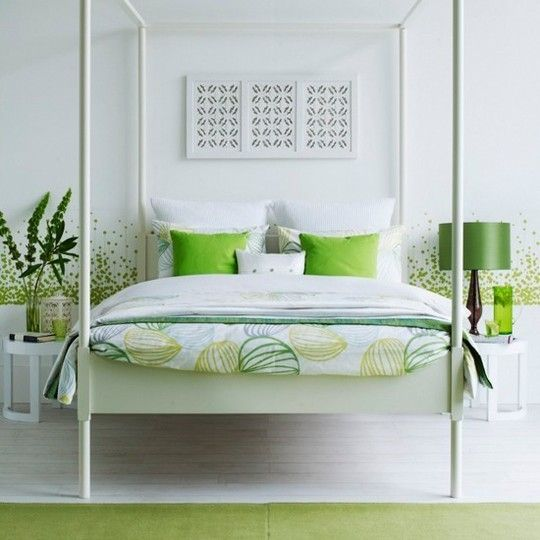 loveGreen Bedrooms, Most Popular, Interiors Design Kitchens, Bedrooms Design, White Bedrooms, Canopies Beds, Four Posters Beds, Bedrooms Ideas, White Room