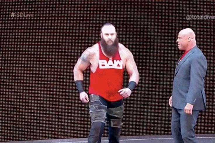Kurt Angle can now just summon Braun Strowman with a head nod: The only thing sc...